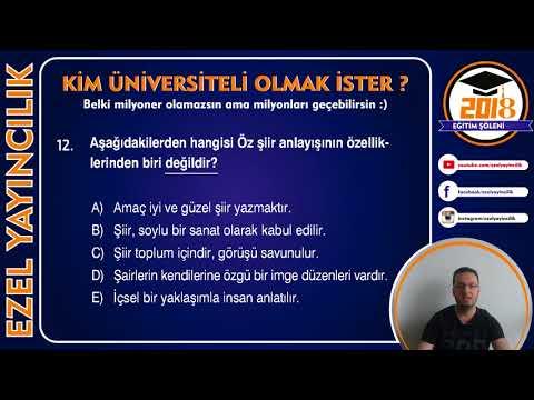 2018 Ayt Edebiyat Sınavında...
