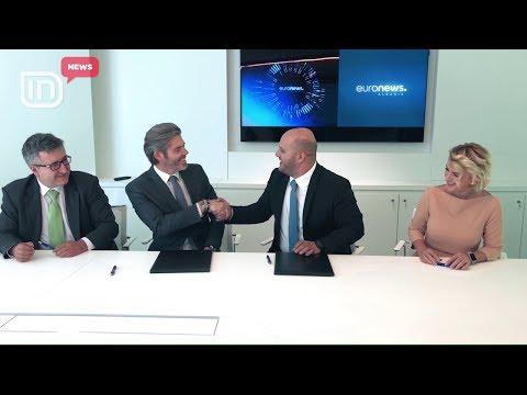 Lind Euronews Albania. Franchise u nënshkrua nga Michael Peters dhe Theodhori Çami | IN TV Albania