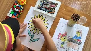 Tô màu bông hoa tặng Mẹ nhân ngày Phụ Nữ Việt Nam 20 10