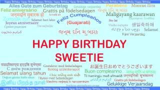 Sweetie   Languages Idiomas - Happy Birthday