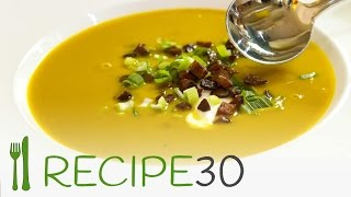 Roast Pumpkin Soup Recipe With Crunchy Chorizo - Awesome Food