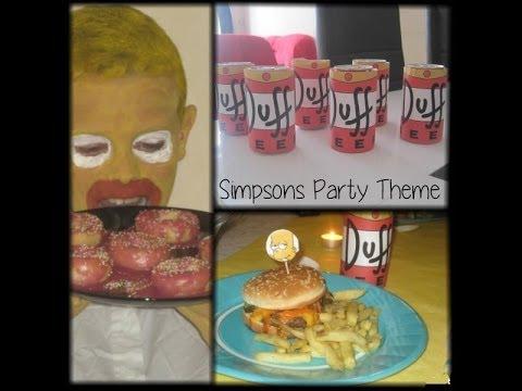 Deco anniversaire simpson 123cartes id es d 39 anniversaire - Simpson anniversaire ...