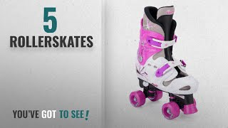 Top 10 Rollerskates [2018]: Osprey Girls Quad Skates Padded Kids Roller Boots Adjustable Size 10-12