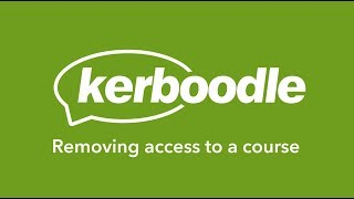 Kerboodle Teacher: Removing access to a course