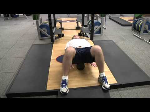 Foam roller snow angels for better office posture and shoulder movement