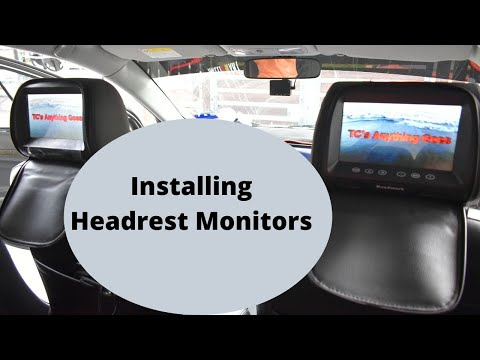 How To Install Headrest Monitors In Your Car Easy