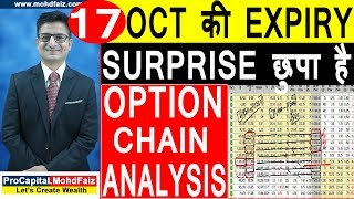 17 OCT की EXPIRY SURPRISE छुपा है | NIFTY OPTION CHAIN ANALYSIS