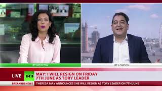 Reaction to Theresa May's resignation announcement