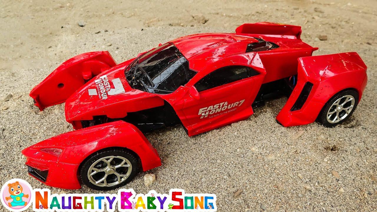 Carro transformador, caminhão guindaste, caminhão basculante, brinquedos para crianças