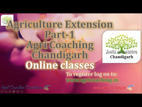 Agriculture Extension Part 1  (Hindi)