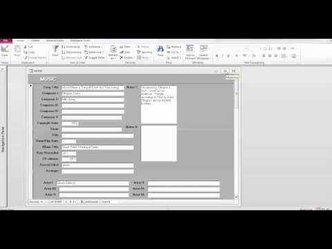 Accessing the Music Database I