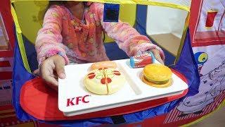 Mainan Tenda Anak Jualan Makanan FASTFOOD 💖 Bermain Kasir Kasiran 💖 Let's Play Jessica Jenica