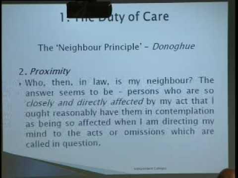 Irish Tort Law - General Negligence Principles - King's Inn Exams