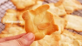 HOW TO MAKE ALMOND TUILES / Bánh Quy Hạnh Nhân - Nhung Cooking