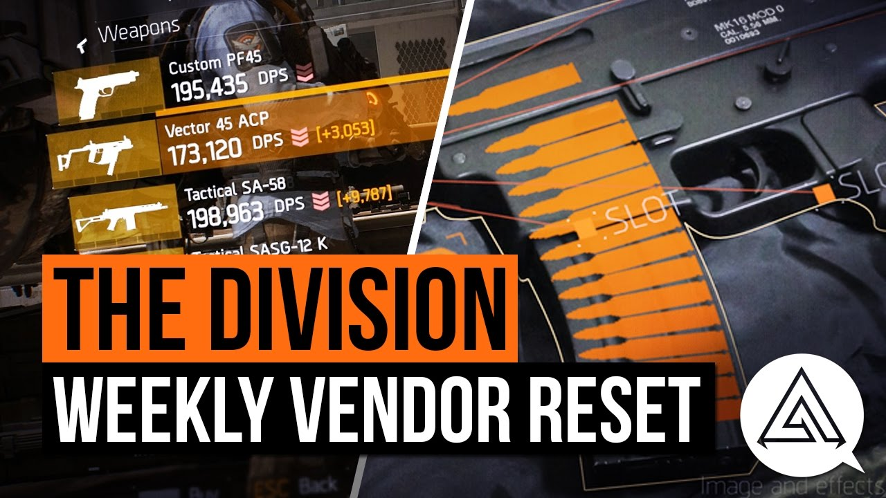 The Division Weekly Vendor reset: Navy MP5 N, LVOA-C and