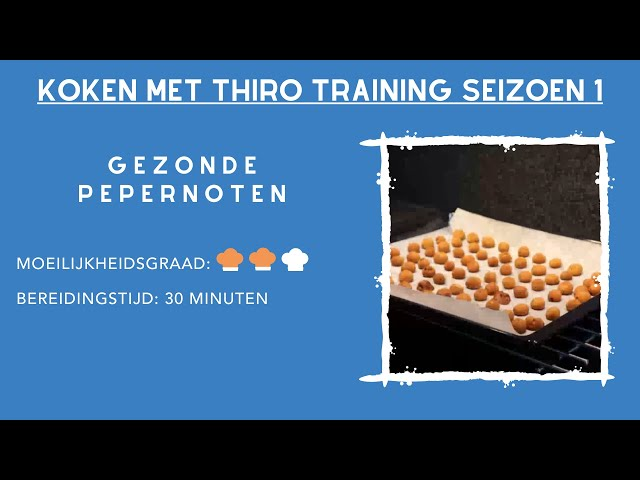 Kook Video #7 Gezonde pepernoten