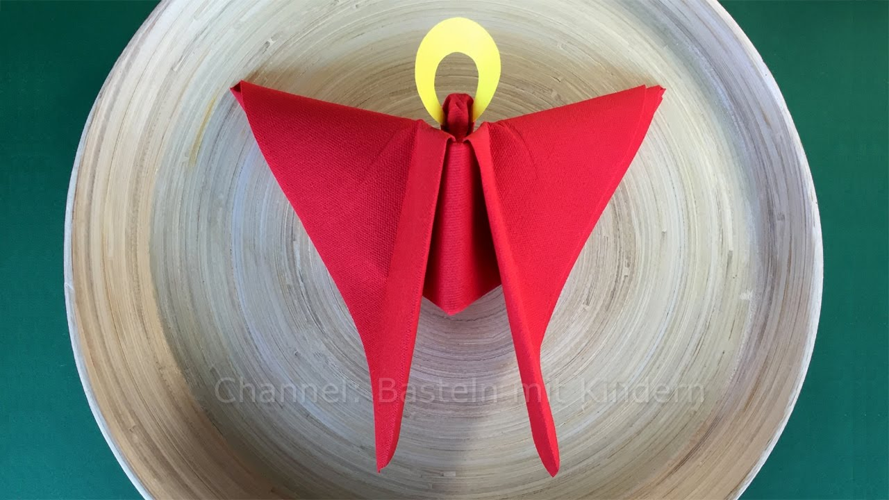 Deko Servietten Napkin Folding Christmas Angel Christmas Table Decorations Ideas Easy Tutorial