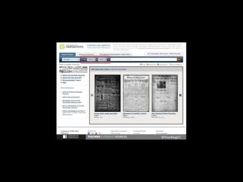 Teaching with Historical Newspapers from Chronicling America