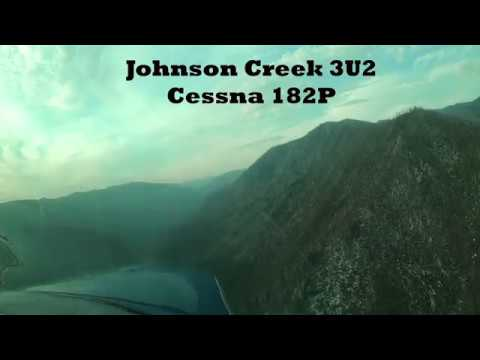 Landing Johnson Creek Airstrip 3U2