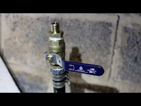 $12,000 House - Plumbing Day One - Installing a Main Line Shut-Off Valve - #3