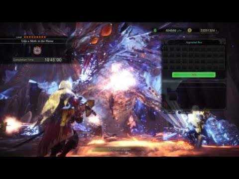 MHW AT Xeno Rank Up To HR 999 With Crimson Fivers