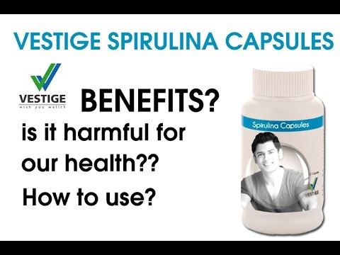 VESTIGE SPIRULINA CAPSULES  How to use? REVIEW & DEMO | vestige product demo| spurilla powder