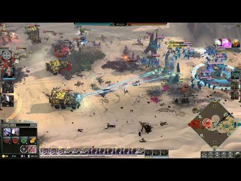Dawn of War 3 Faction War 3v3 Mymeara Eldar vs Bad Moons Orcs