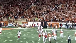 11/18/2018 -- Ehlinger over the middle to Johnson