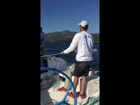 ORC 2016 - Second offshore finishinden hemen önce biraz mutluluk gösterisi