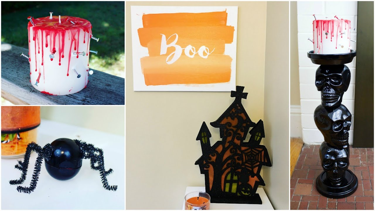 spooky diy halloween crafts 1 pinterest inspired youtube - Diy Halloween Crafts