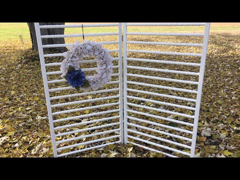 Make a Craft Show Wreath Rack Display from Repurposed Crib