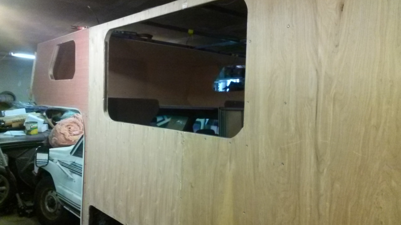 Complete Motorhome Rebuild 12 Wall Panel Installation