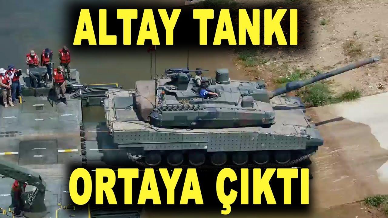 Altay tankı ilk kez böyle görüldü - Altay tank has been carried by floating bridge -  Samur - BMC