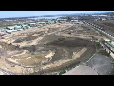 Aerial view of New York State Fair's renovation