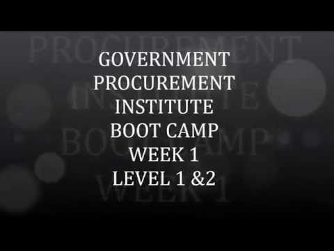 Becoming a Government Contractor Week 1