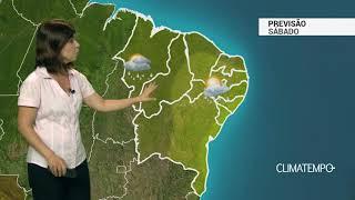 Previsão Nordeste – Chuva frequente no litoral norte