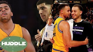 D'Angelo Russell SHADES Lonzo Ball, Seth vs Steph Curry -The Huddle