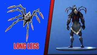 FORTNITE LONG LEGS BACK BLING ON ALL NEW SKINS | NEW LONG LEGS BACK BLING SHOWCASE ON 40+ SKINS