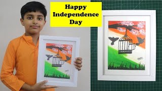 INDEPENDENCE DAY SPECIAL Oil Pastels Drawing - FREEDOM | How to draw with Oil Pastels | Easy drawing