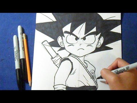 Cómo dibujar a Goku Niño \