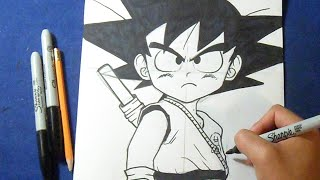 "Cómo dibujar a Goku Niño ""Dragon Ball"" 