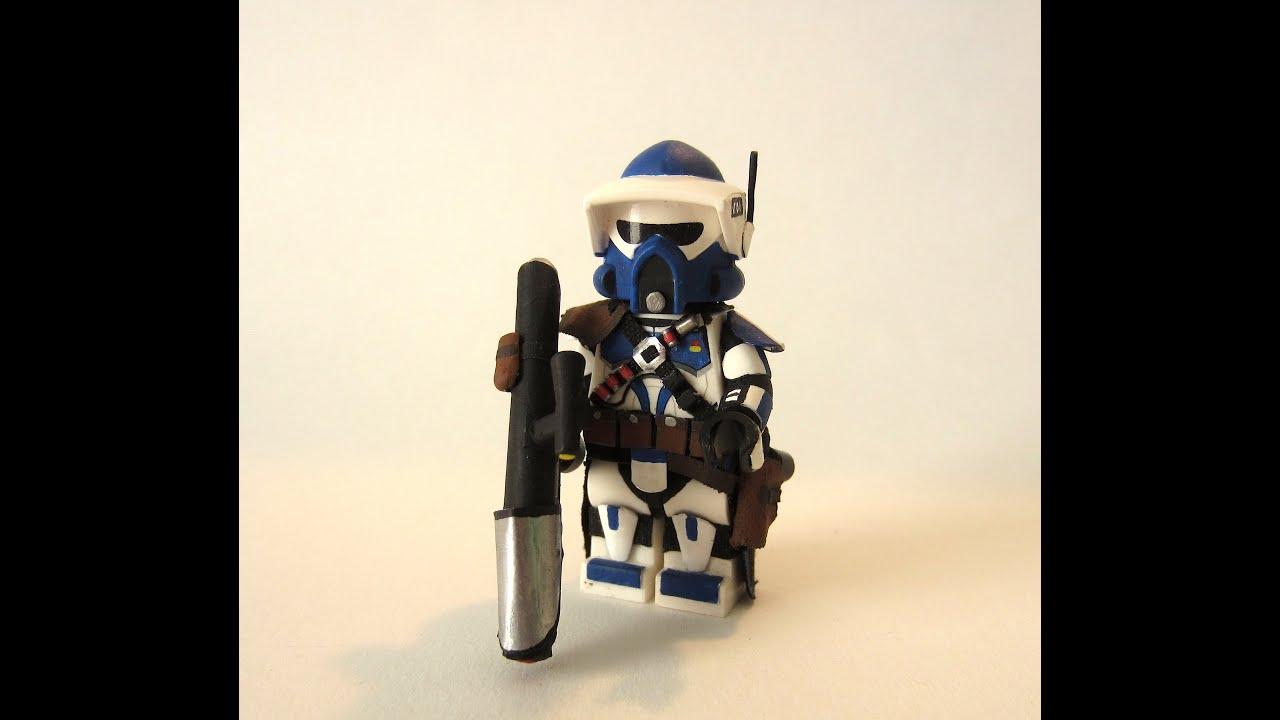 Custom Lego Star Wars 501st Rocket Launcher Clone Trooper