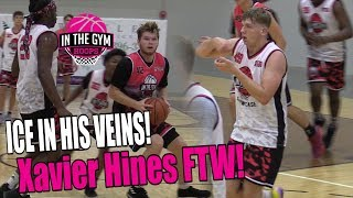 ICE IN HIS VEINS! Xavier Hines Hits Clutch Buzzer Beater To Win!