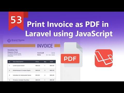 Print Invoice as PDF in Laravel using JavaScript - YouTube