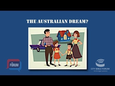 The Australian Dream - is it all about money?