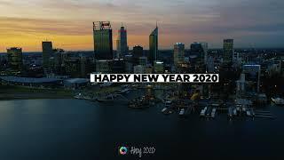 Happy New Year 2020 Perth Australia 4K