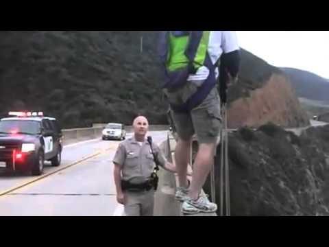 Base jumper escapes cops