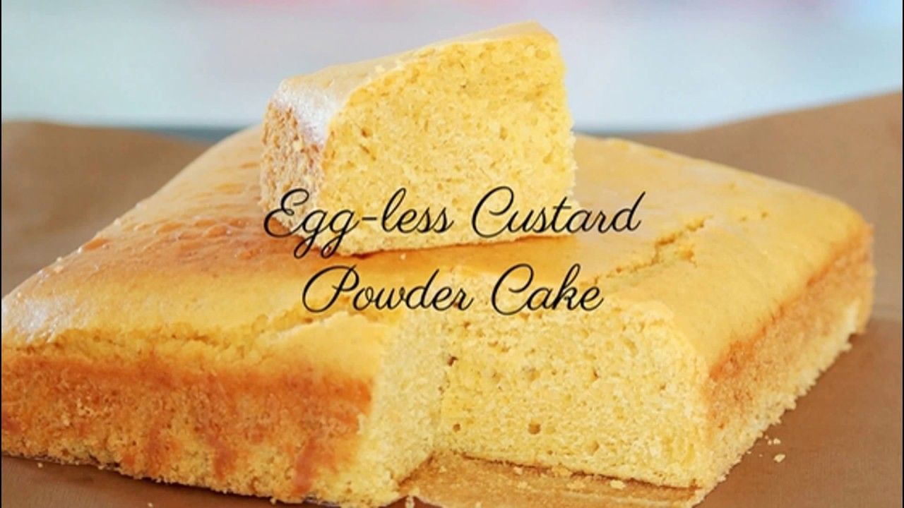 Eggless Vanilla Custard Cake Recipe