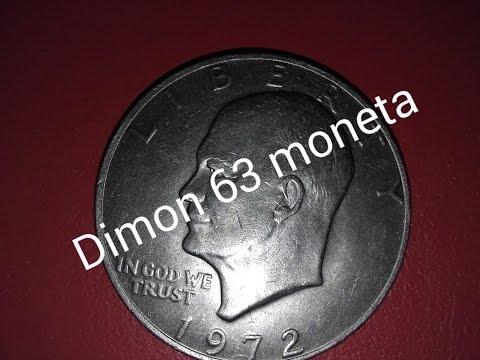 Обзор монеты номиналом 1 доллар США 1972 года выпуска !!!