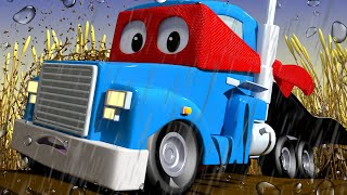The magnet crane truck - Carl the Super Truck - Car City ! Cars and Trucks Cartoon for kids